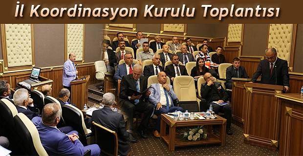 KOORDİNASYON KURULU TOPLANTISI YAPILDI