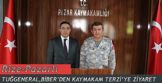 Pazarlı General Biber, Kaymakam Terzi'yi Ziyaret Etti.