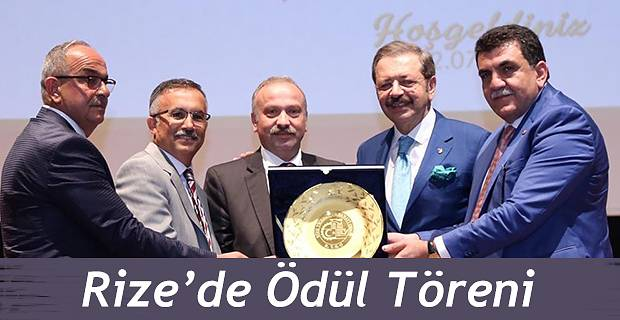 Rize'de Ödül Töreni