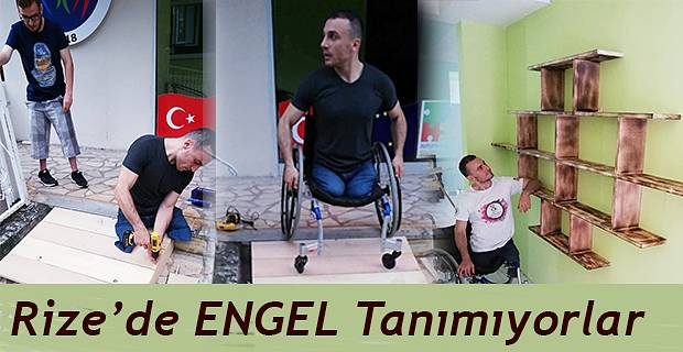 Rizeli Engelli Mustafa Beyaz ve arkadaşları hiçbir engel tanımıyorlar.