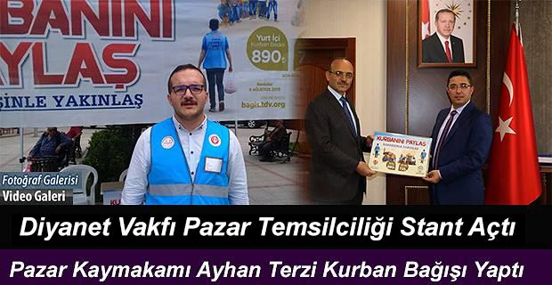 Türkiye Diyanet Vakfı Rize-Pazar Temsilciliği kurban bağış standı açtı