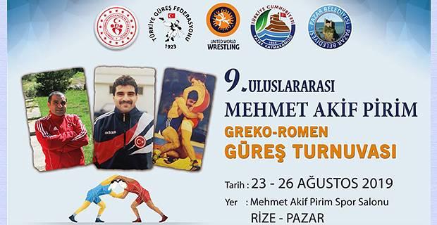 9. Uluslararası Mehmet Akif Pirim Güreş Turnuvası Başlıyor