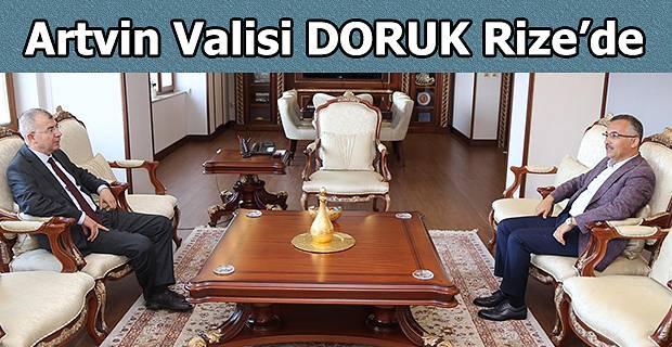 Artin Valisi Yılmaz Doruk, Rize Valisi Kemal Çeber'i Ziyaret Etti