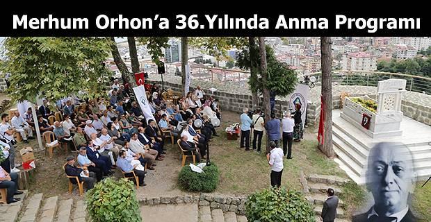 EKREM ORHON'A ANMA MERASİMİ