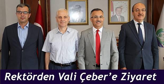 Gümüşhane Üniversitesi Rektöründen Vali Çeber'e Ziyaret