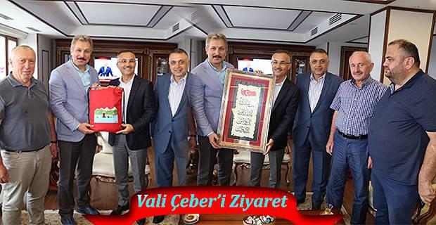 İstanbul Dernekler Federasyonundan Vali Çeber'e Ziyaret