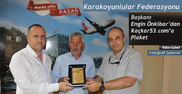 Karakoyunlular Federasyonundan Kaçkar53.com'a Plaket