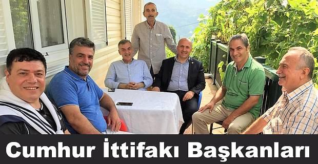 Pazar ve Çayeli Belediye Başkanlarından ziyaret