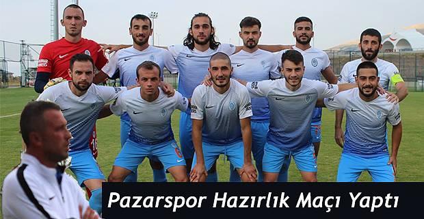 Pazarspor Erzurum'da seri hazırlık maçlarına başladı. İlk Karşılaşmada..