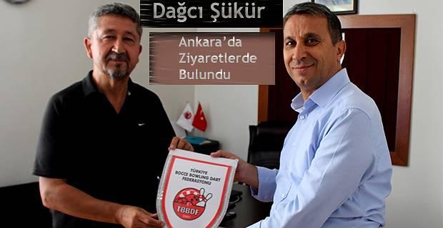 Rıdvan Şükür, Bocce, Bowling ve Dart Federasyonu'nun misafiri oldu.