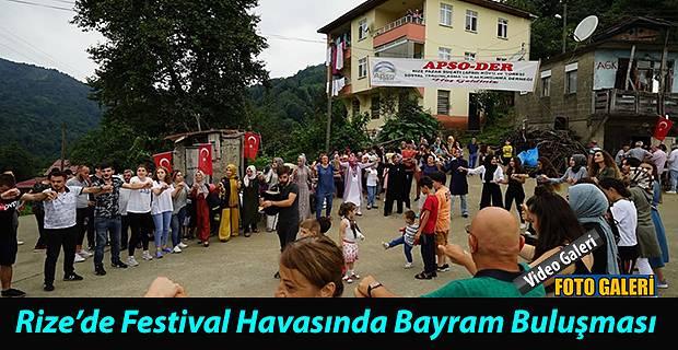 Rize-Pazar'da Apsolular 300 kişinin katılımıyla Bayramlaşmada Buluştu