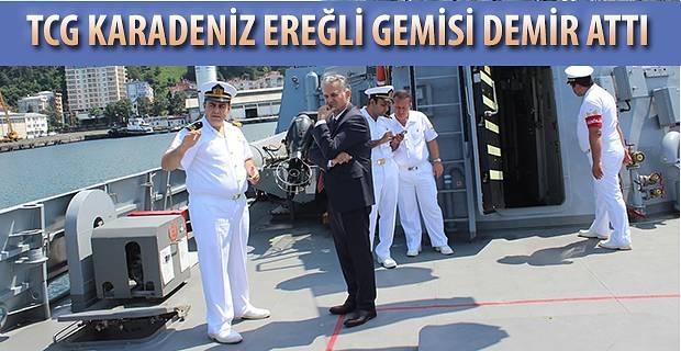 TCG KARADENİZ EREĞLİ ( P-1214) GEMİSİ HOPAPORT'A DEMİR ATTI