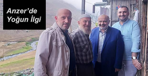 ANZER'DE ŞEVKİ YILMAZ'A YOĞUN İLGİ VE SEVGİ