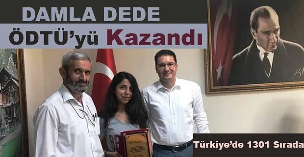 DAMLA DEDE YKS SINAVINDA TÜRKİYE'DE 1301. SIRADA YER ALDI