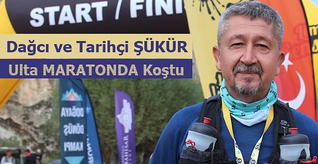 Rıdvan Şükür, Afyon'da Frig Ultra Maratonunda koştu