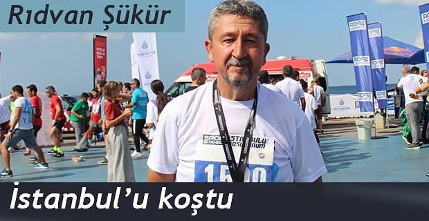 Rıdvan Şükür, Caddebostan'da koştu.