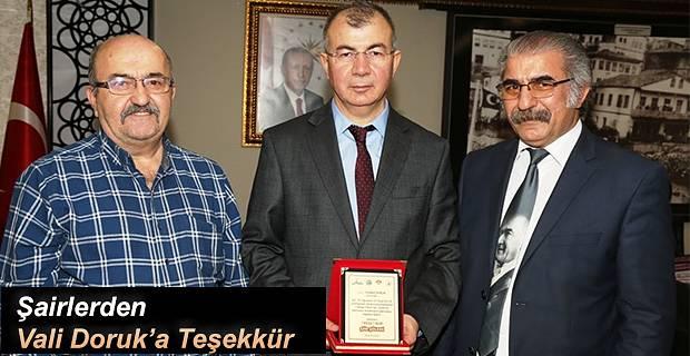 ŞAİRLERDEN VALİ DORUK'A TEŞEKKÜR ZİYARETİ