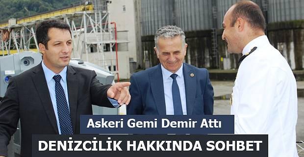 TCG KİLİMLİ (P-1209) ASKERİ GEMİSİ HOPAPORT'A DEMİR ATTI.