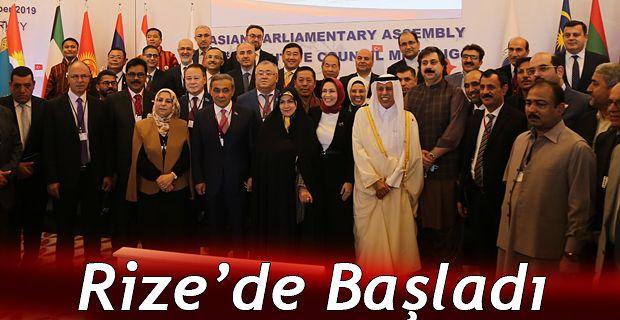 ASYA PARLAMENTER ASAMBLESİ 1. YÜRÜTME KURULU TOPLANTISI RİZE'DE BAŞLADI