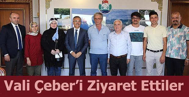 Gazetecilerden Vali Kemal Çeber'i Ziyaret Etti