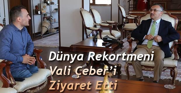 Paralimpik Rekortmen Mustafa Beyaz'dan Vali Çeber'e Ziyaret