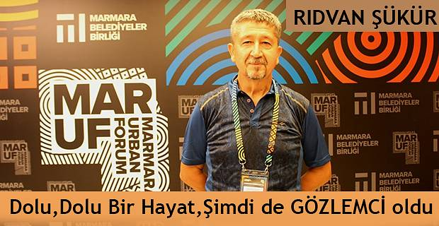 Rıdvan Şükür, Uluslararası Marmara Kent Forumu'nda