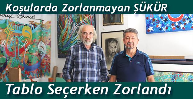 Rıdvan Şükür, Türk tarihini anlatan ünlü ressamın konuğu oldu