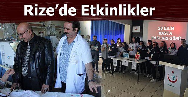 """Rize'de """"Hasta Hakları Günü"""" etkinlikleri"""