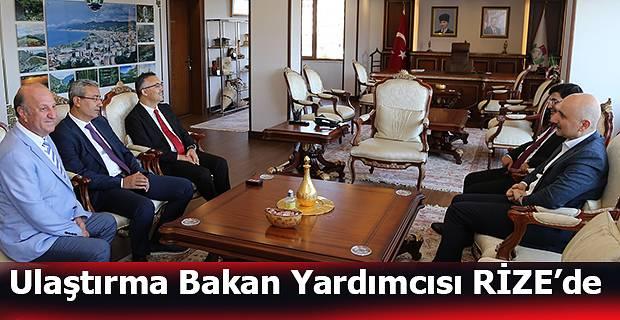 Ulaştırma ve Altyapı Bakan Yardımcısı Adil Karaosmanoğlu, Vali Çeber'i Ziyaret Etti