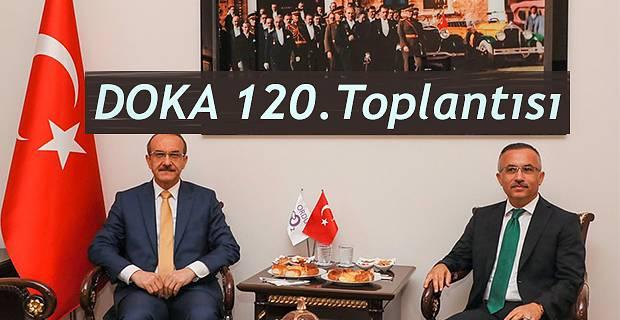 Vali Kemal Çeber DOKA'nın 120. Yönetim Kurulu Toplantısına Katıldı