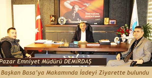 Yeni Emniyet Müdürü Demirdaş'tan Başkan Basa 'ya ziyaret
