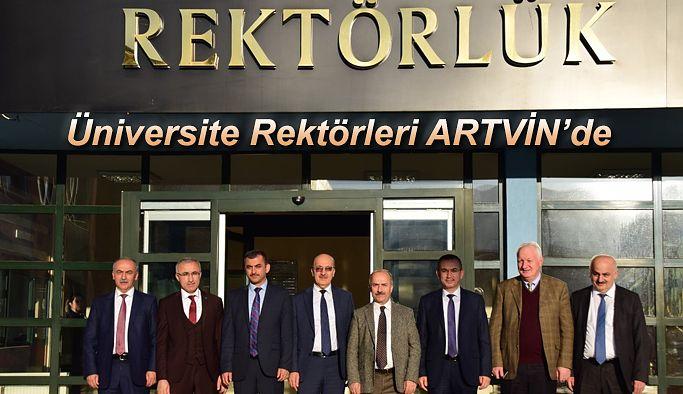 Doğu Karadeniz Bölge Üniversite Rektörleri Artvin Çoruh Üniversitesini ziyaret etti.