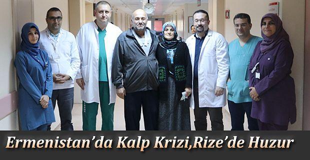 """Ermenistan'da kalp kriz geçirdi, """"Atan Kalpte Bypass Tekniği"""" ile Rize'de sağlığına kavuştu"""