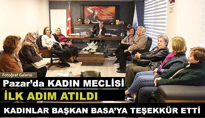 Kadınlar Başkan Basa 'ya teşekkür ettiler.