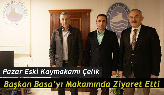 Kaymakam Çelik Başkan Basa'yı Ziyaret etti.