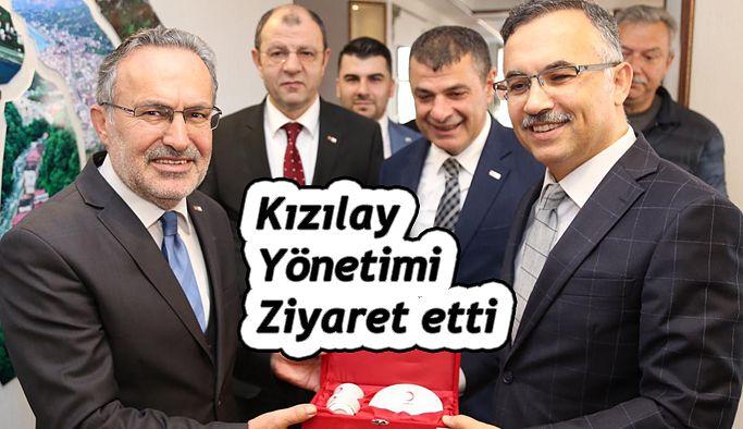 Kızılay Yönetim Kurulundan Vali Çeber'e Ziyaret