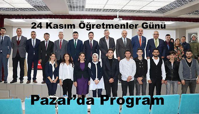 Pazar'da Öğretmenler günü Programı düzenlendi