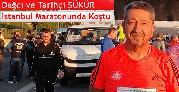 Rıdvan Şükür, 41. İstanbul Maratonu'nda koştu.