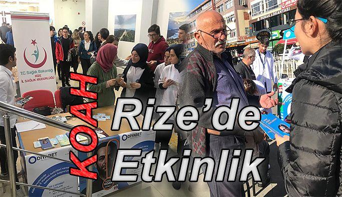 Rize'de '20 Kasım Dünya KOAH Günü' etkinlikleri