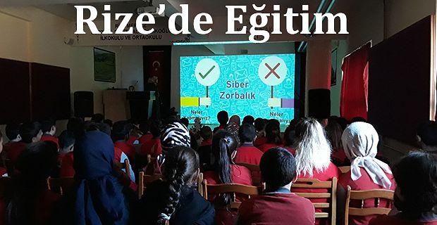 """Rize'de,  öğrencilere """"Davranışsal Bağımlılıkla Mücadele"""" Eğitimi"""