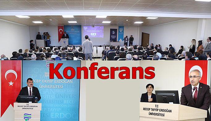 """RTEÜ'DE """"BİLİM VE TÜBİTAK ODAKLI YENİ SÜREÇLER"""" KONFERANSI"""