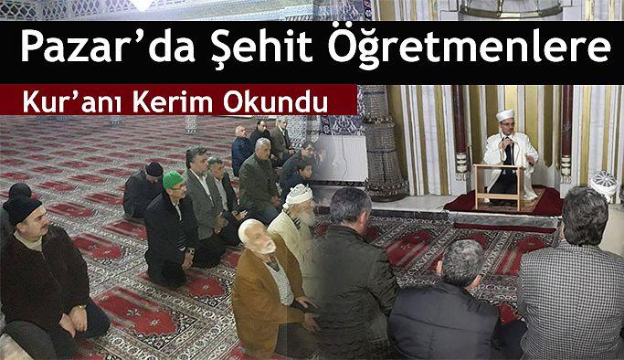 Şehit öğretmenler için Kur'an-ı Kerim okundu