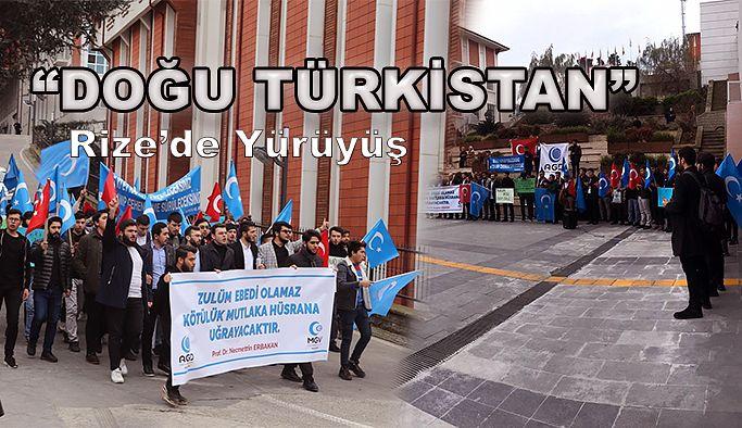 """AGD """"DOĞU TÜRKİSTAN"""" İÇİN YÜRÜDÜ !"""