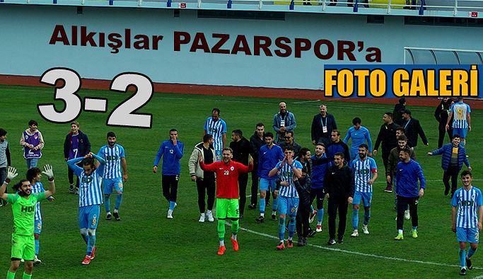 Alkışlar Pazarspor'a 3-2