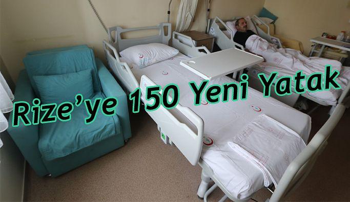 Rize'de 150 yeni yatak hastaların hizmetine sunuldu