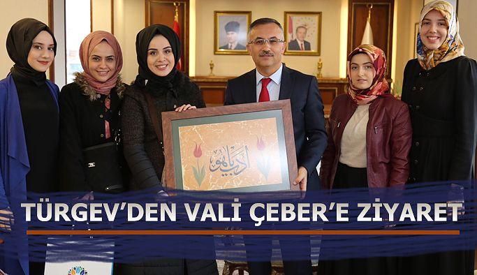 TÜRGEV'den Vali Çeber'e Ziyaret
