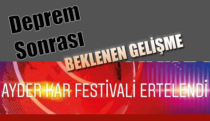 Ayder'de düzenlenecek kar festivali ertelendi