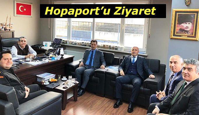 CANPOLAT HOPAPORT'U ZİYARET ETTİ
