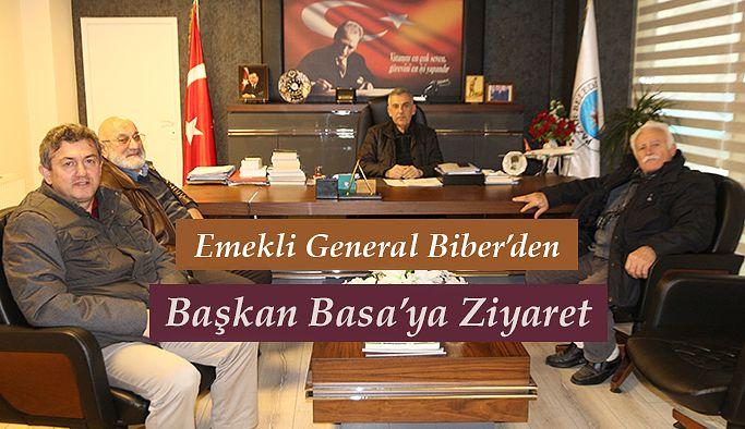 Emekli General'den Başkan Basa 'ya ziyaret