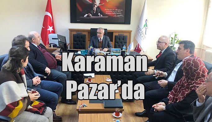 Rektör Karaman Pazar'da